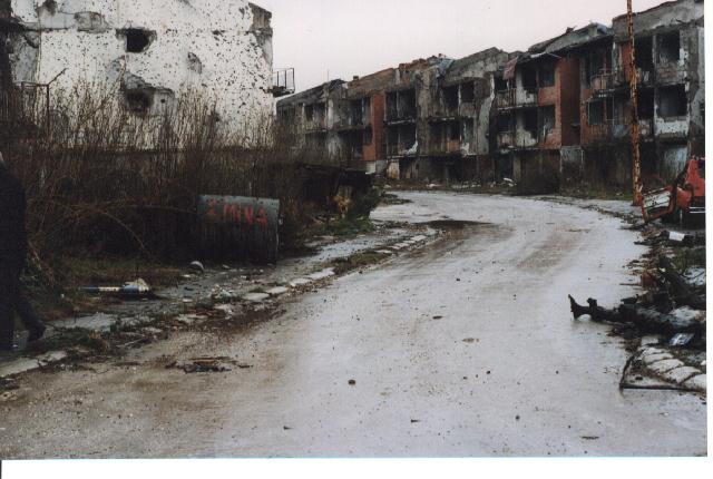 Destruction in Dobrinja